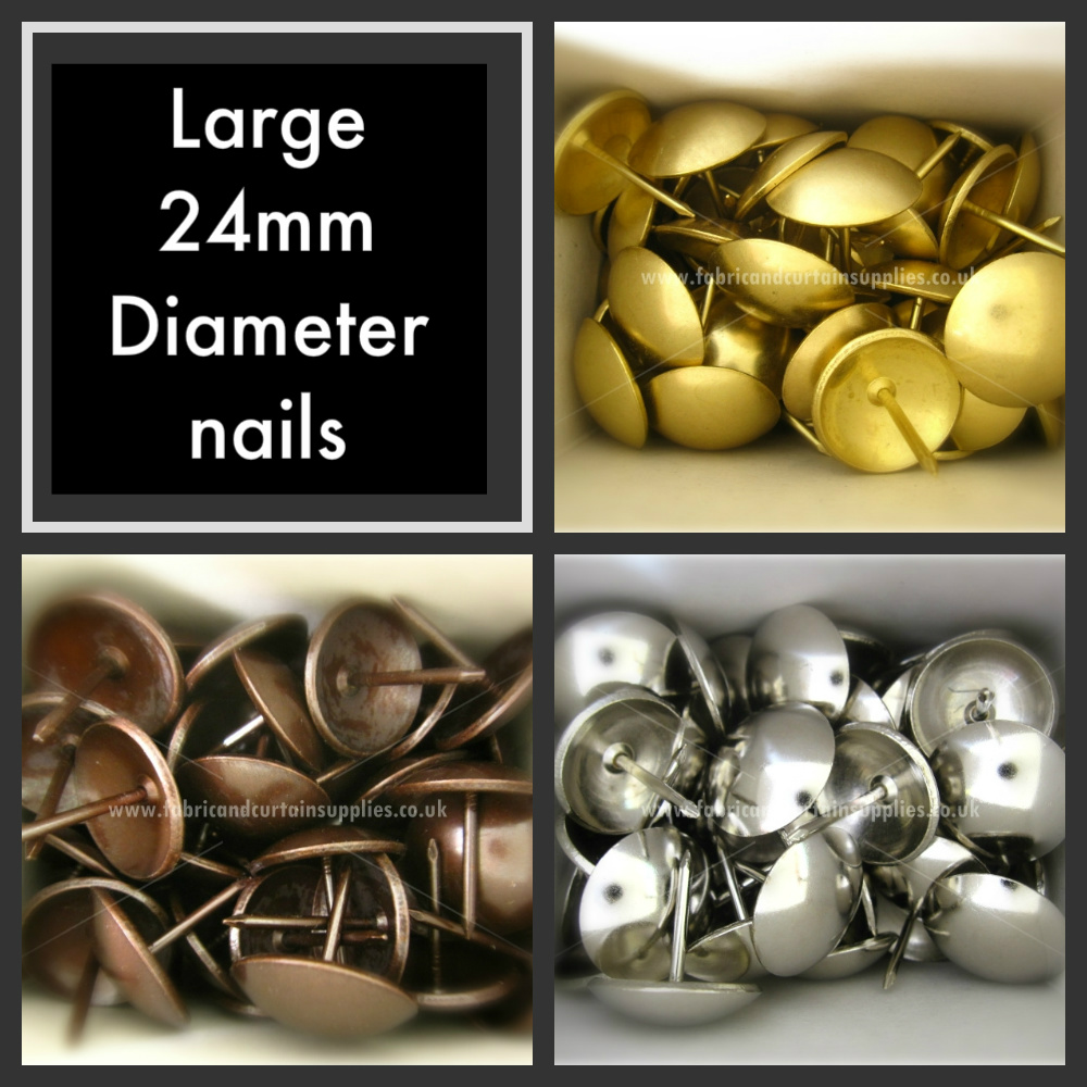 Large 24mm Head Upholstery Nails Furniture Fabric Studs